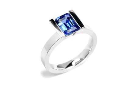 White gold tanzanite lika ring