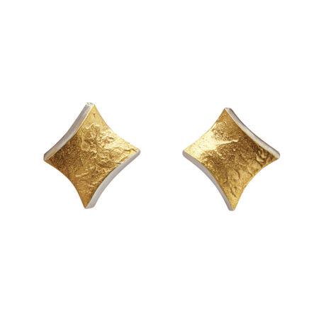 Golden Twist stud earrings