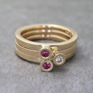 Diamond and Ruby Aurora Set