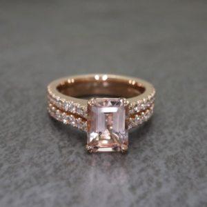 Double Band Morganite Roseann Ring