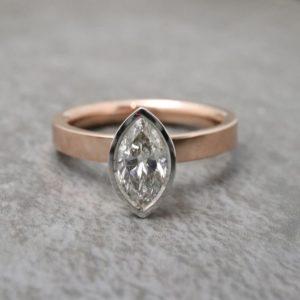 Marquise Diamond Aurora Ring