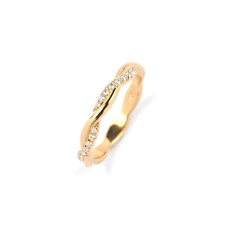 Rose Gold Entwined Ring