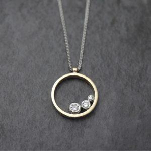 Three Stone Ring Pendant