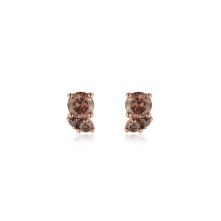 Chocolate Diamond Cluster Earrings