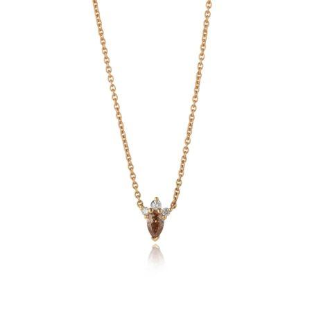 Chocolate Diamond Cluster Pendant