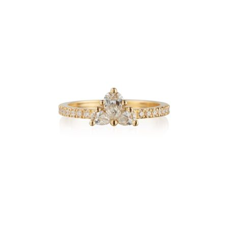 Diamond Trio Cluster Ring