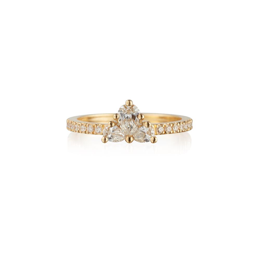 Diamond Trio Cluster Ring