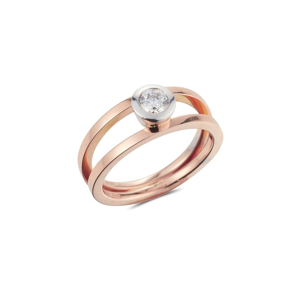 Double Band Diamond Ring