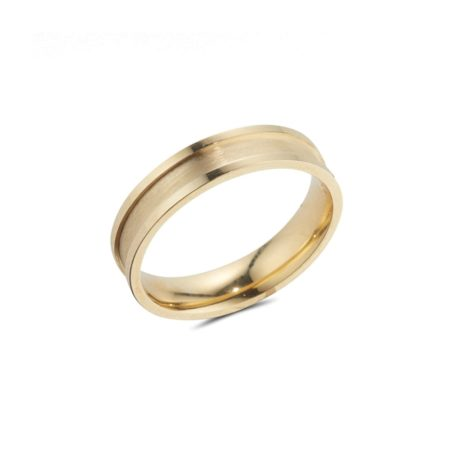 Gold Band with Polished Raised Edges