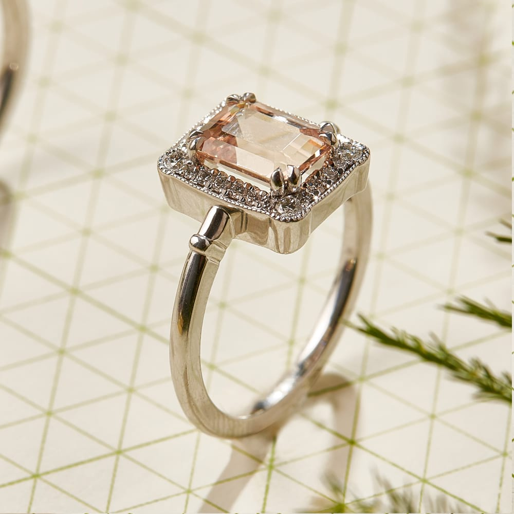 Morganite Art Deco Ring 2