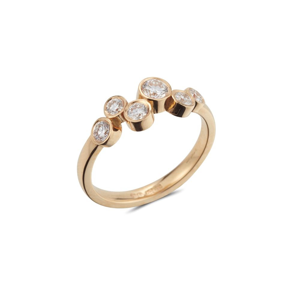 Multistone Stepping Stones Ring