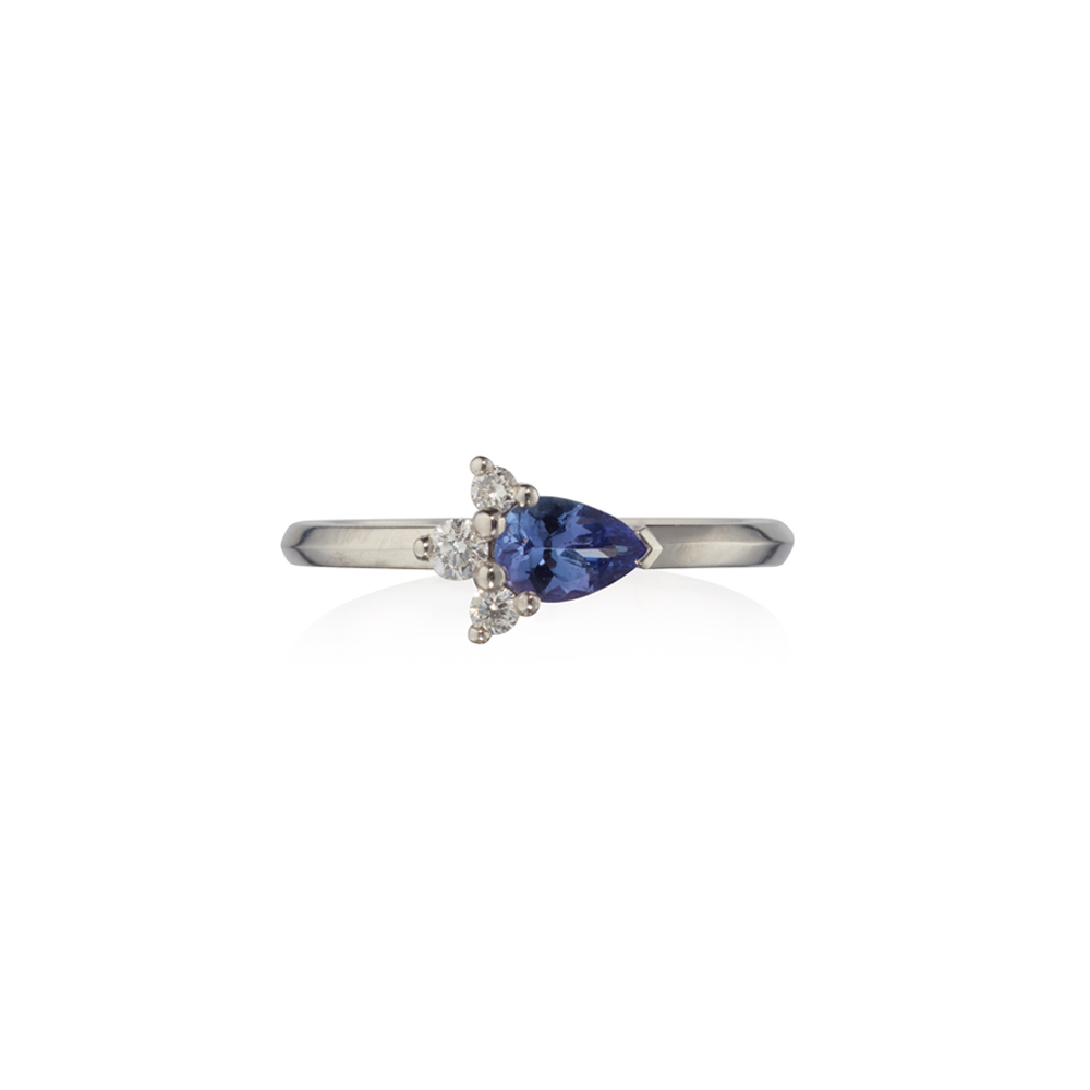 Tanzanite and Diamond Astral Ring