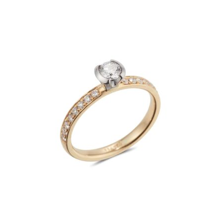 Semi Bezel Pave Ring