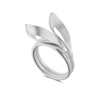 Silver Dancing Flame Rings