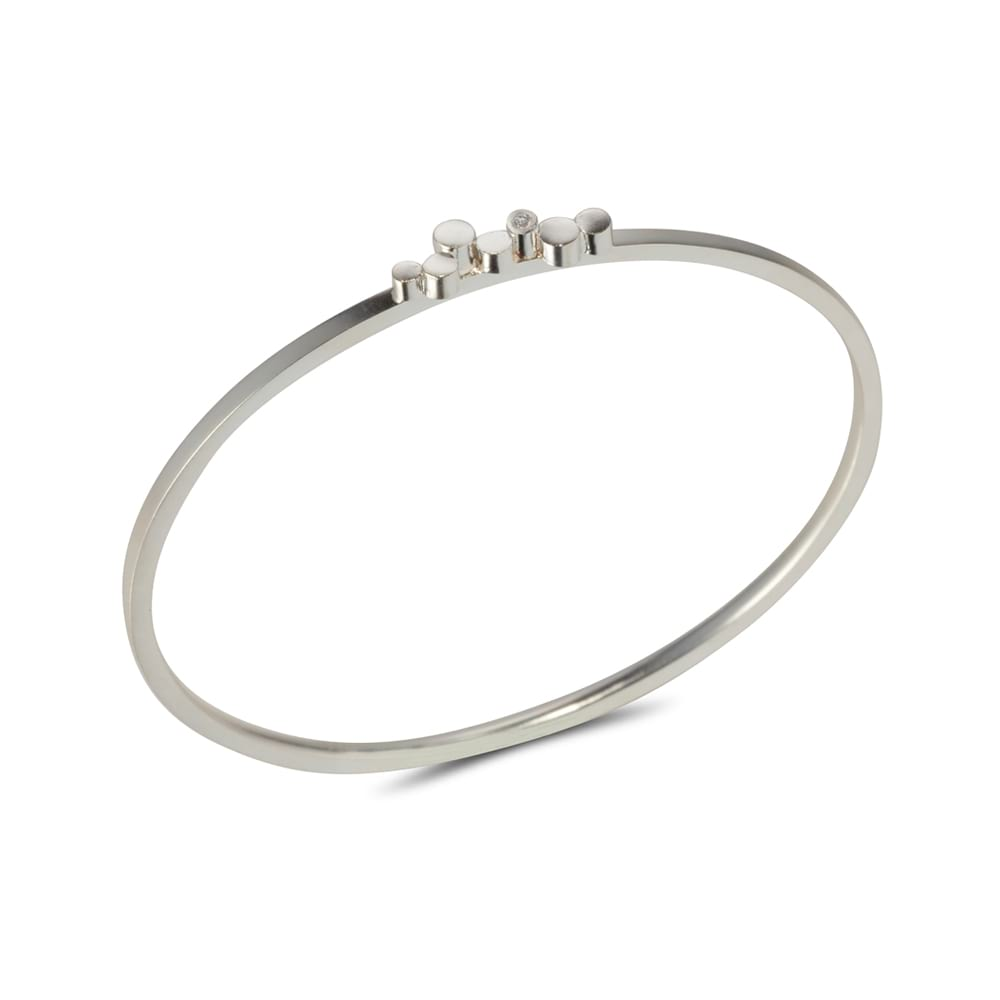 Silver Stepping Stones Bangle