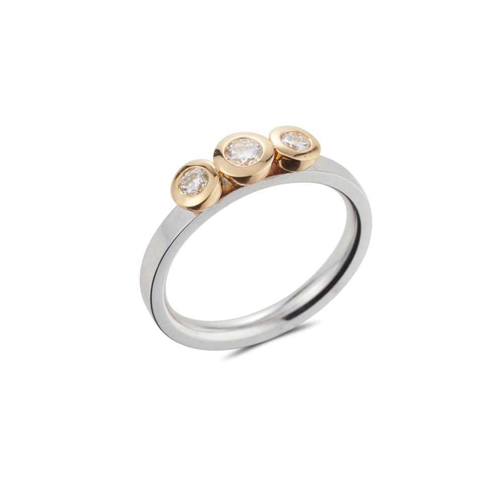 Three Stone Kaleidoscope Ring