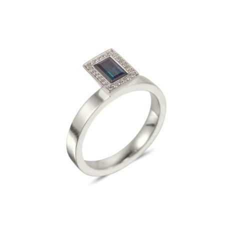 Baguette Cut Indicolite Vibrance Ring