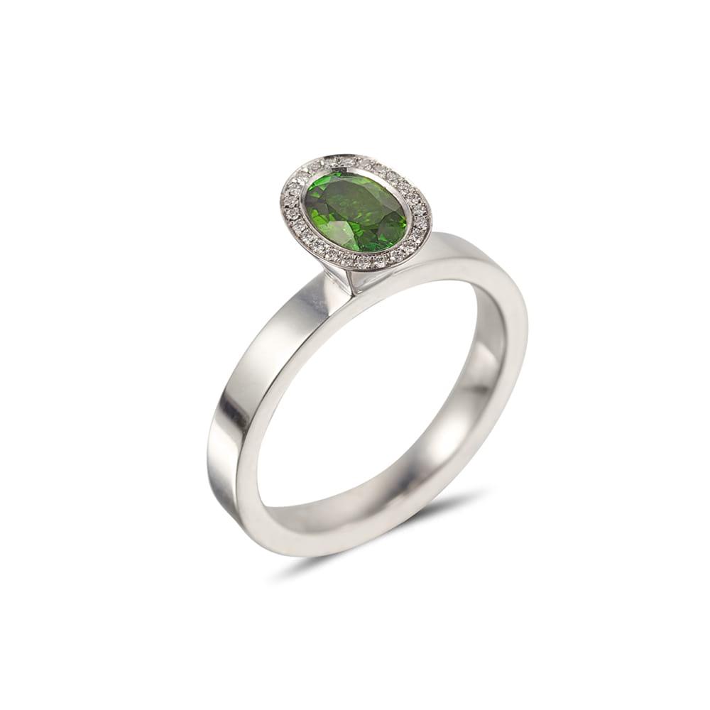 Oval Cut Green Tourmaline Vibrance Ring 2