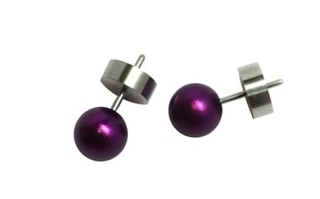 Purple Round Studs