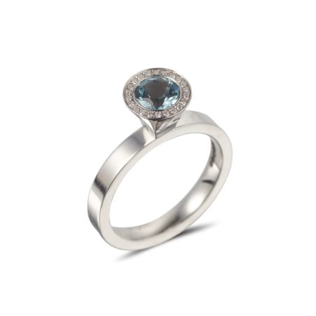 Round Aquamarine Vibrance Ring