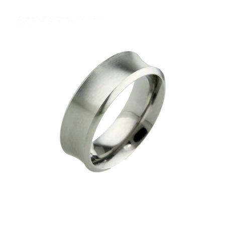 Concave Titanium Ring