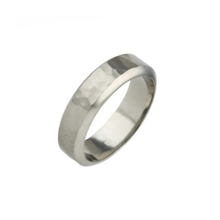 Planished Titanium Ring
