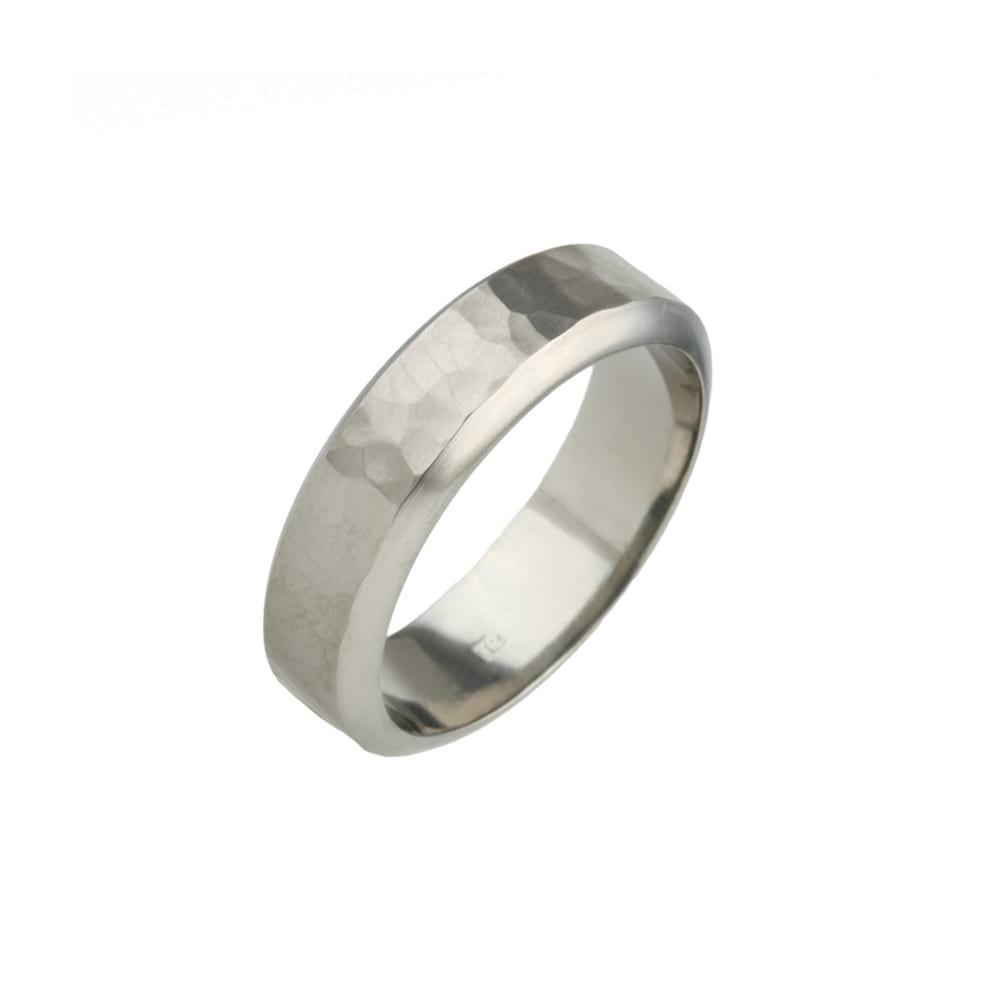 Planished Titanium Ring