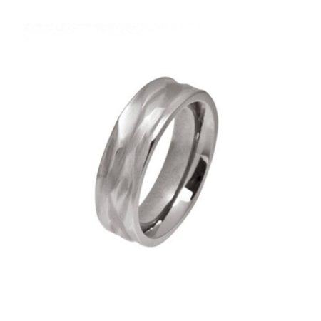Ripple Wave Titanium Ring