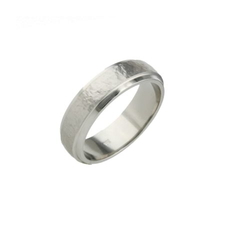 Sanded Stepped Titanium Ring