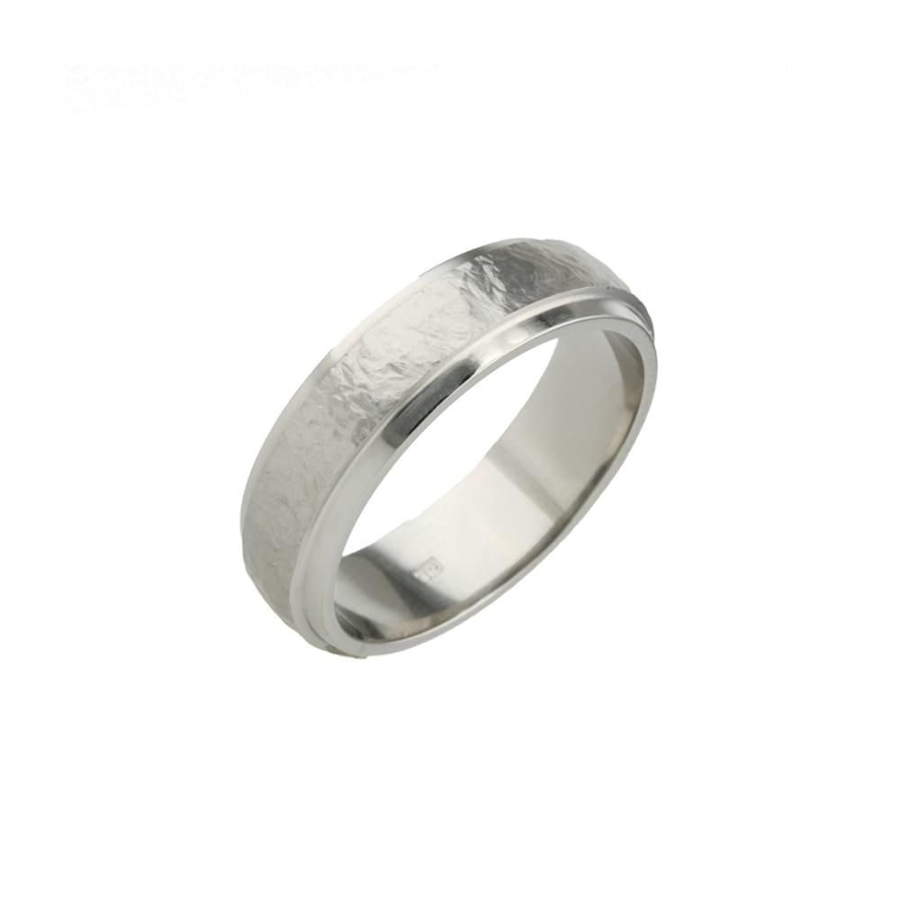 Sanded Stepped Titanium Ring