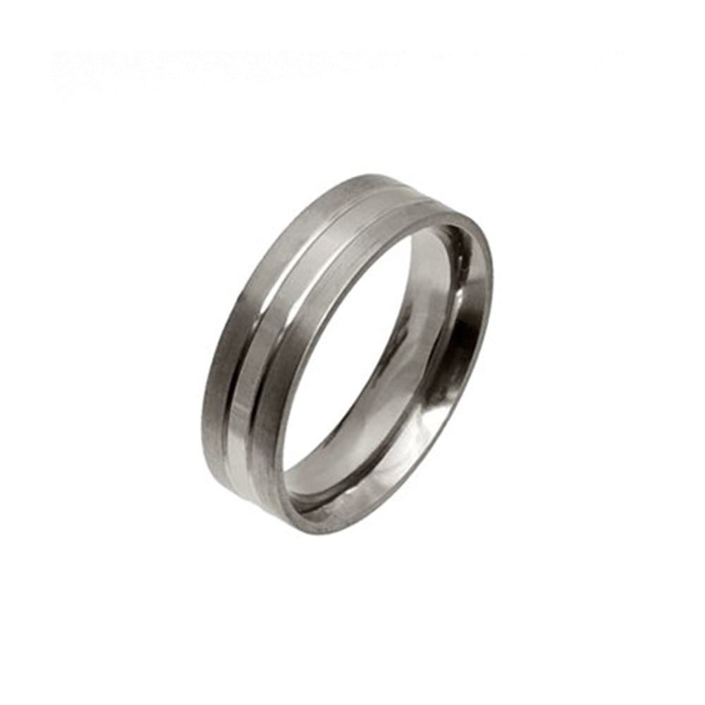 Titanium Ring with Three Sections