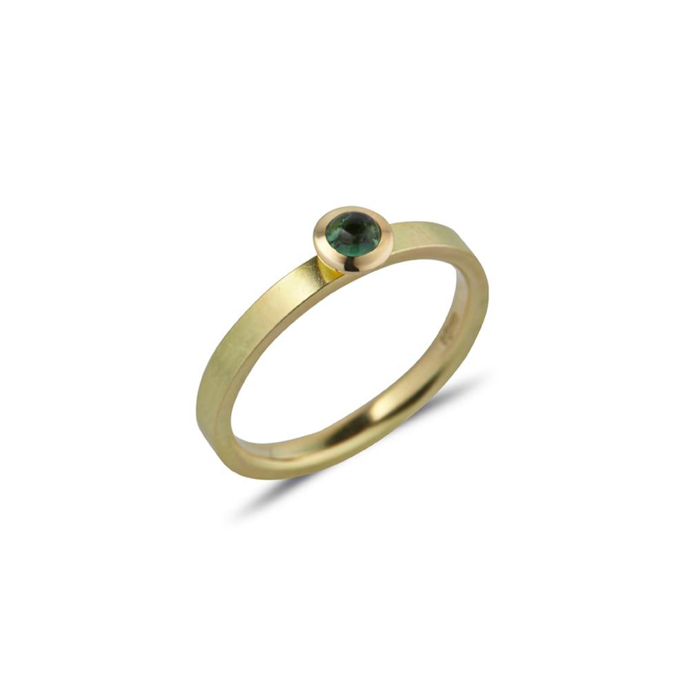 Green Tourmaline Kaleidoscope Ring