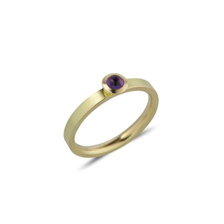Amethyst Gold Kaleidoscope Ring