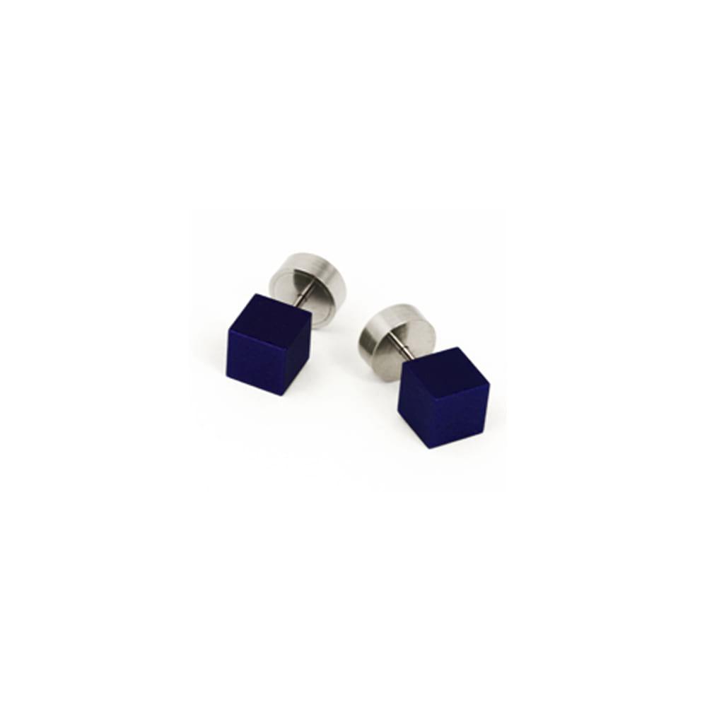 Cube Stud Earrings Marine