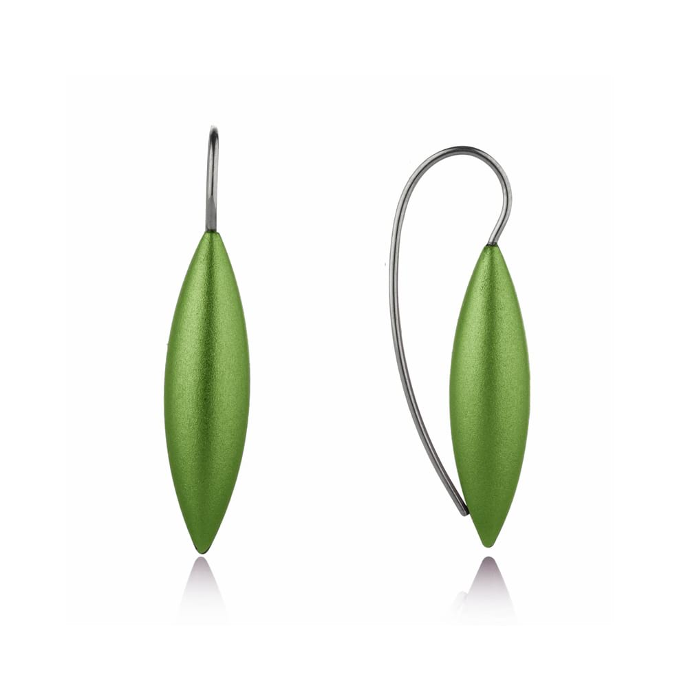 Large tulip earrings - olive
