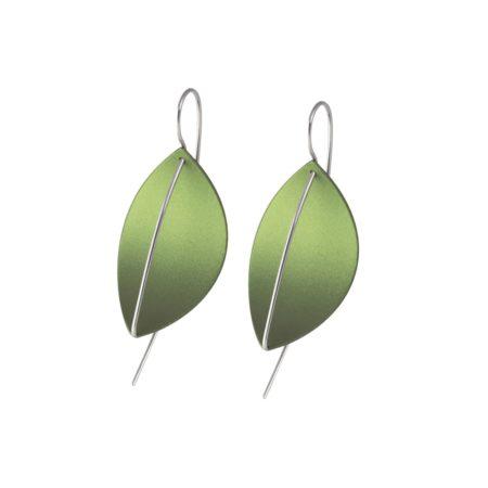 Leaf Drop Earrings Green