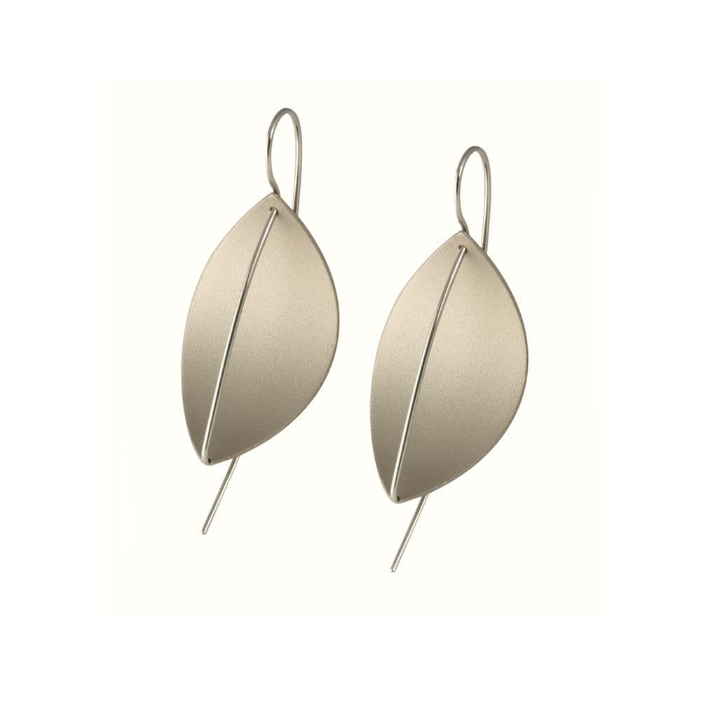 Leaf Drop Earrings Titanium