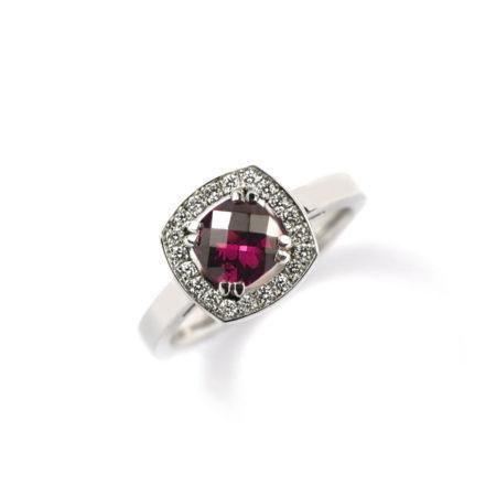 Rhodolite Garnet Vienna Ring