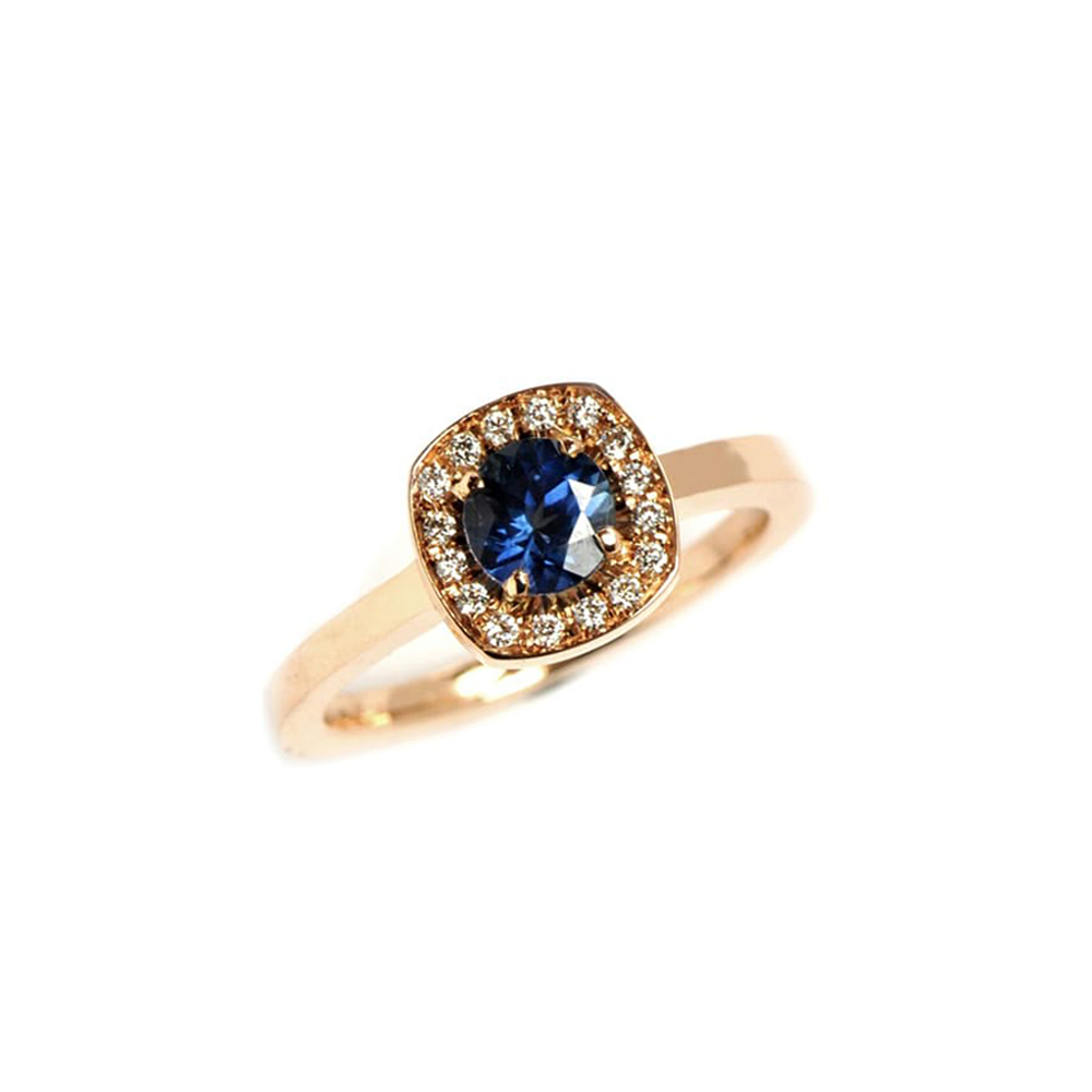 Sapphire Rose Gold Emelie Ring
