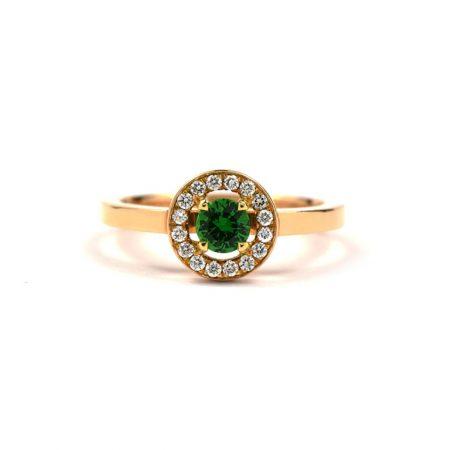 Tsavorite Garnet Anvers Ring