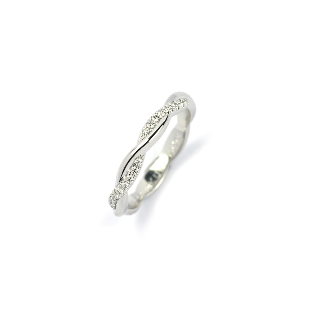 White Gold Entwined Ring