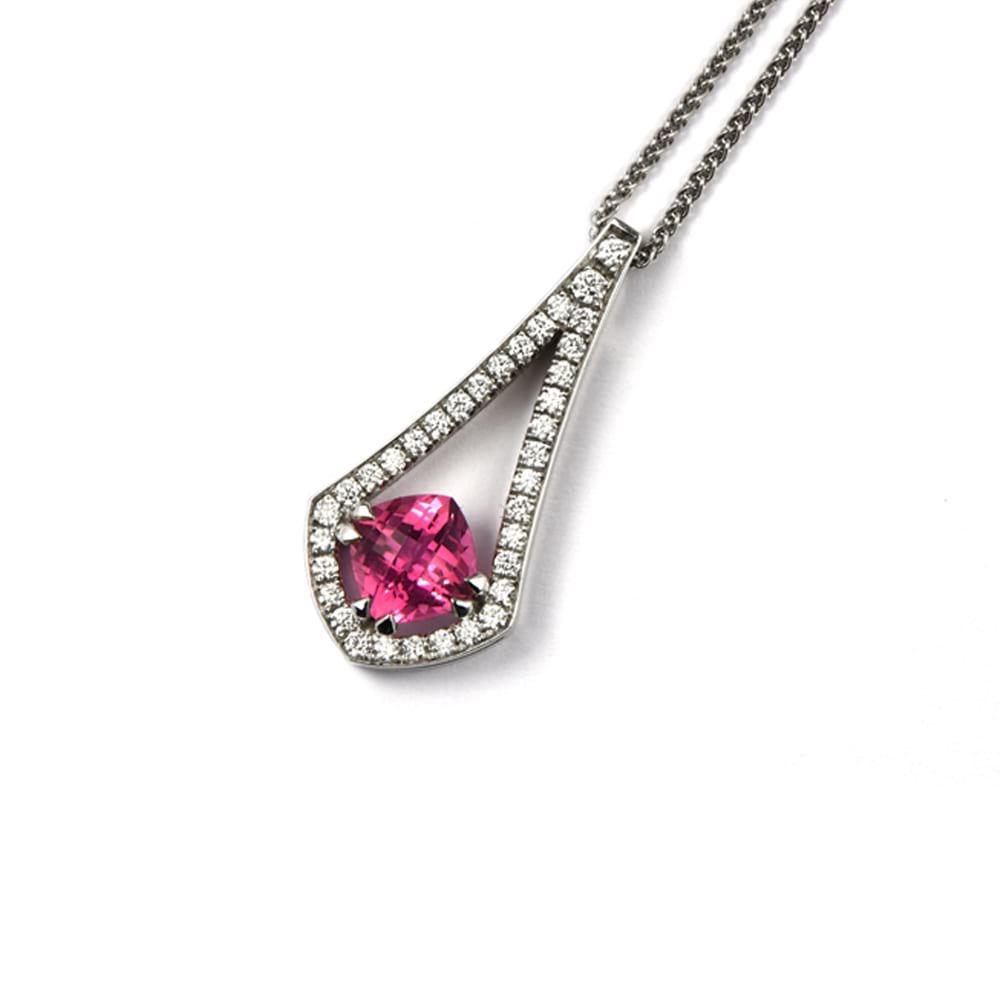 Pink Tourmaline Vienna Pendant