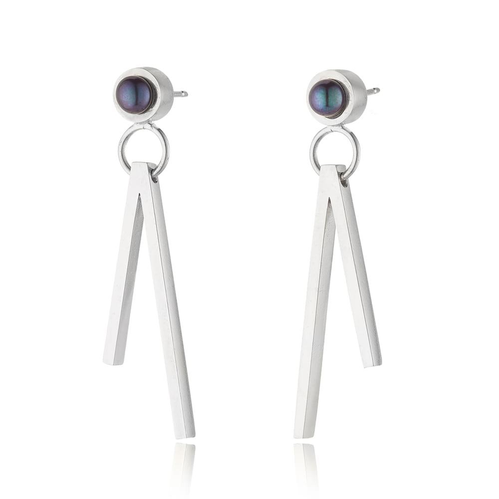 Duet Pearl Drop Earrings
