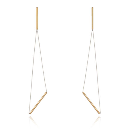 GOLD TRIANGLE DROP EARRINGS