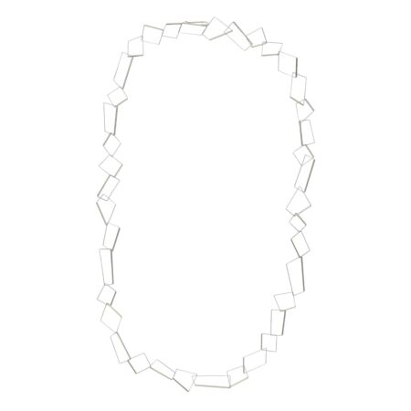 SILVER RECTANGLE NECKLACE
