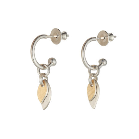 Two-Tone Small Willow Hoop Earrings