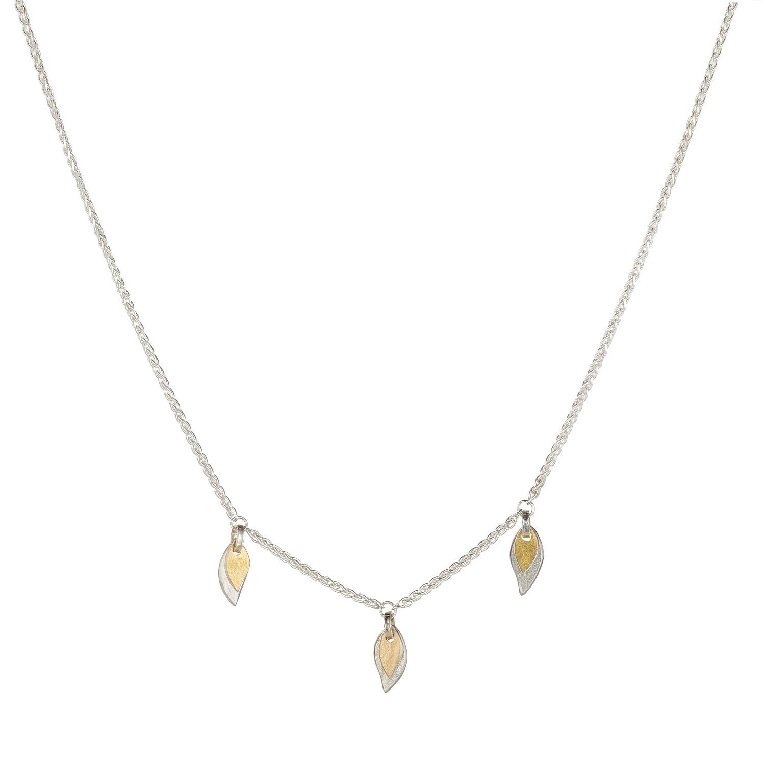Two-Tone Three Piece Willow Necklace