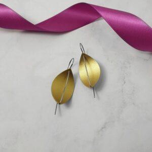 Leaf Drop Earrings-Gold