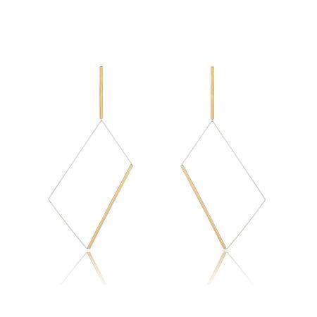 Yoko Gold Rectangular Drop Earrings