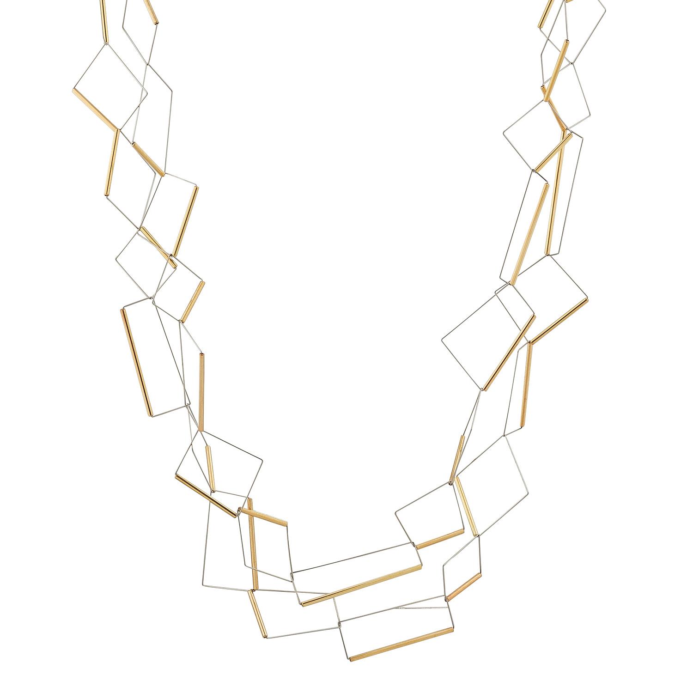 Yoko Gold Rectangular Neckpiece